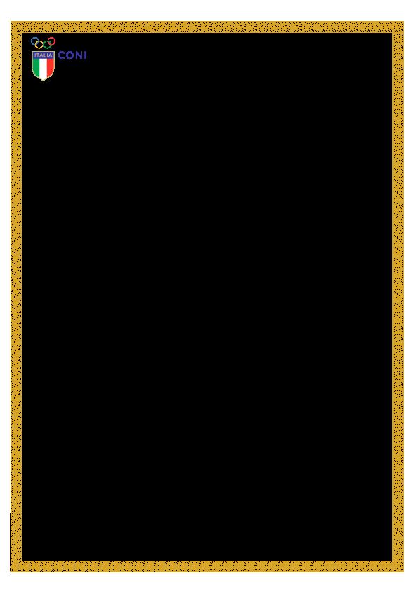 CONI riconoscimento 2019